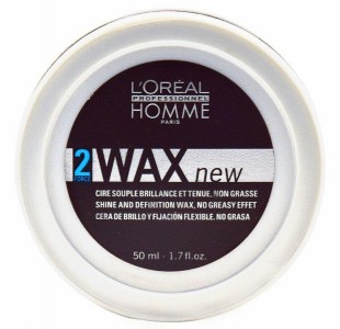 L'Oreal Homme Wax 2 Force Shine And Definition Wax 50ml